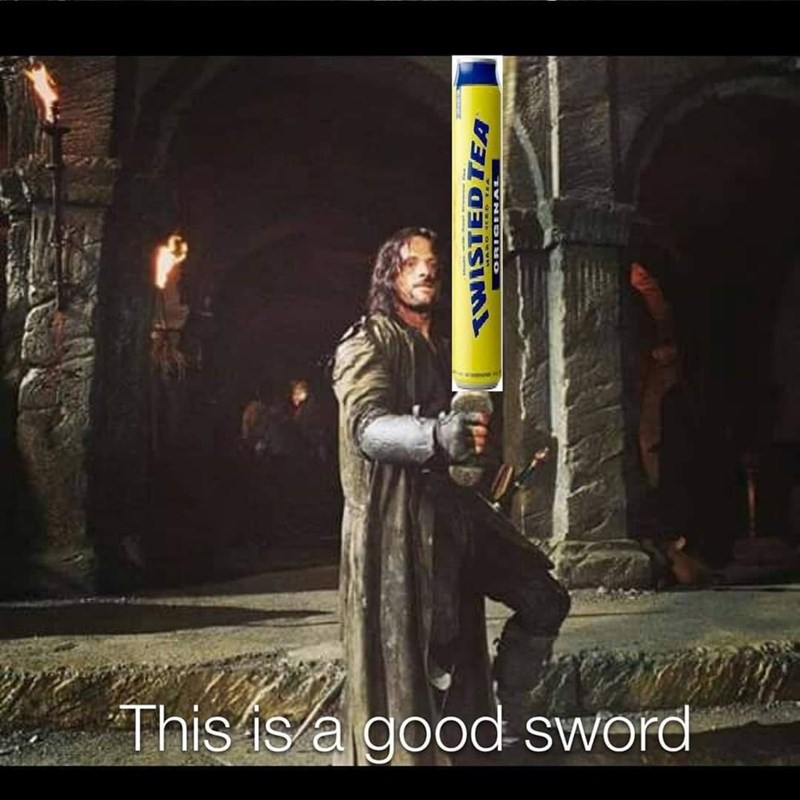 Fiction - This is a good sword TWISTED TEA TVNID HO