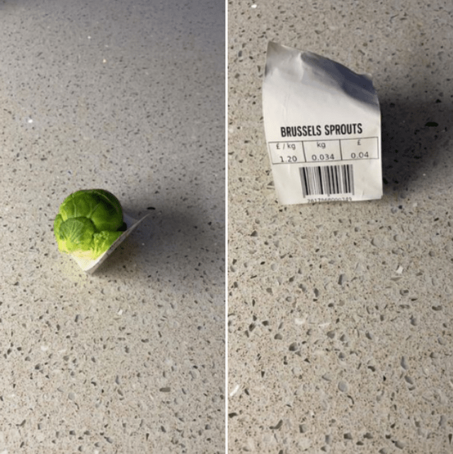 Leaf - BRUSSELS SPROUTS E/kg kg 1. 20 0.034 0.04