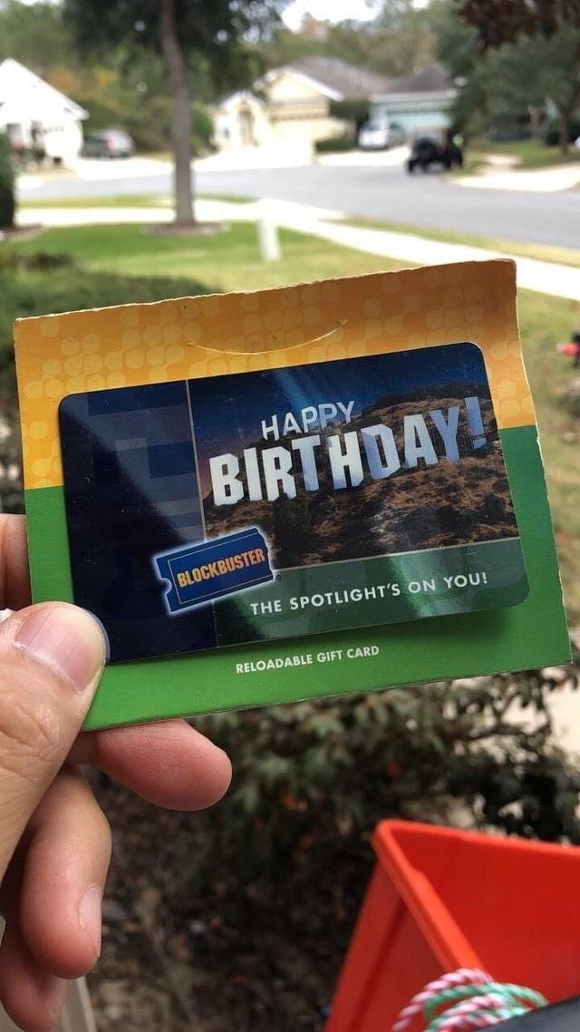 Finger - HAPPY BIRTHDAY BLOCKBUSTER THE SPOTLIGHT'S ON YOU! RELOADABLE GIFT CARD