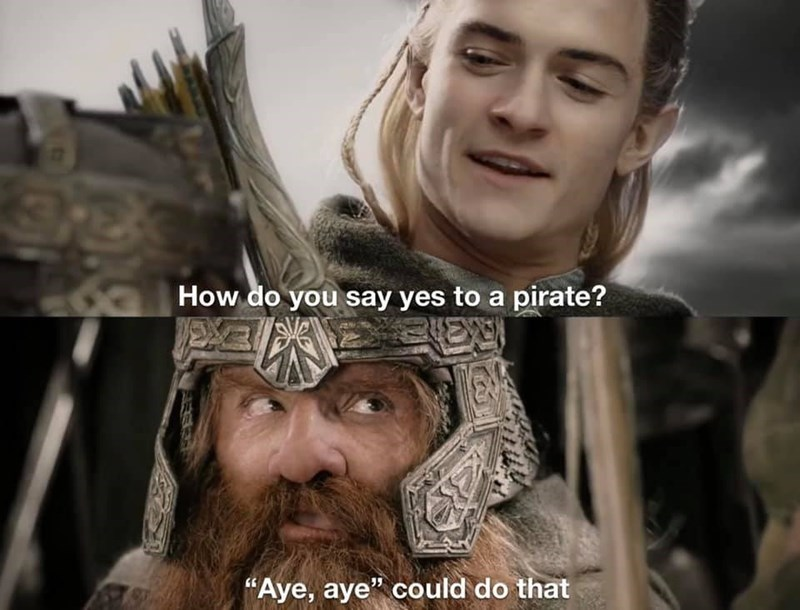 """Nose - How do you say yes to a pirate? EXE """"Aye, aye"""" could do that"""