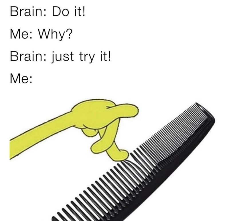 Tool - Brain: Do it! Me: Why? Brain: just try it! Me: