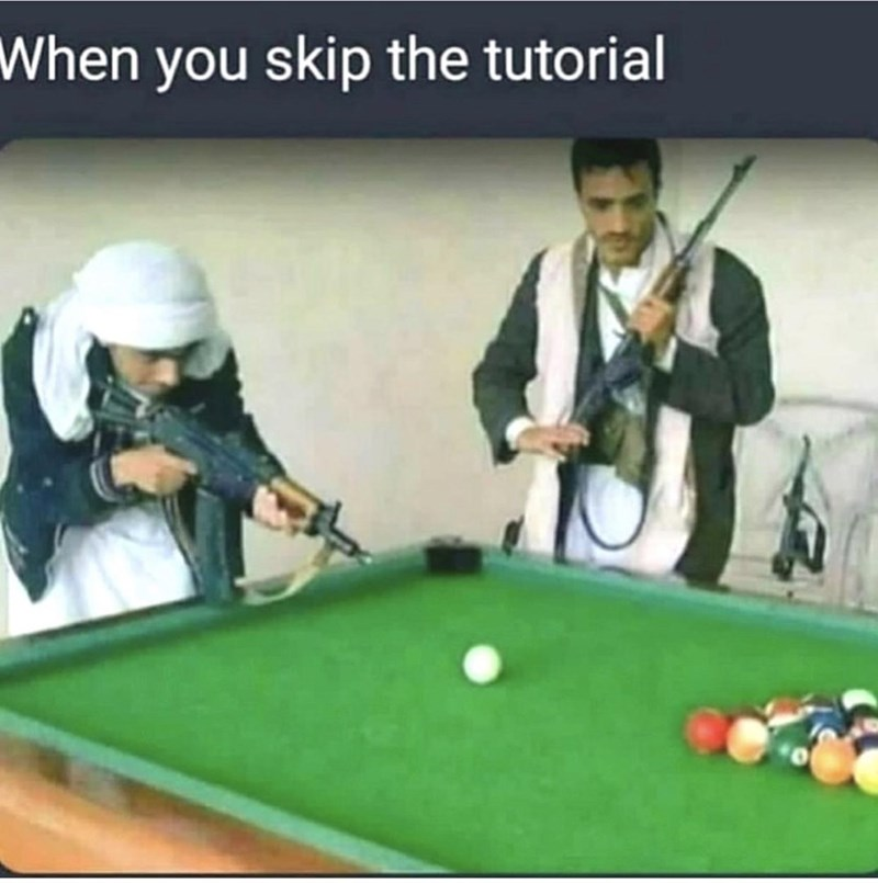 Indoor games and sports - When you skip the tutorial