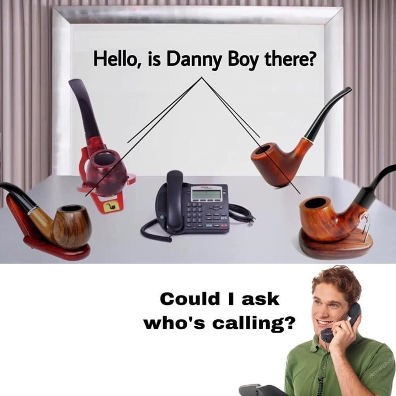 Microphone - Hello, is Danny Boy there? Could I ask who's calling? depositphote