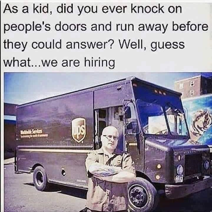 Motor vehicle - As a kid, did you ever knock on people's doors and run away before they could answer? Well, guess what...we are hiring dale Sevices