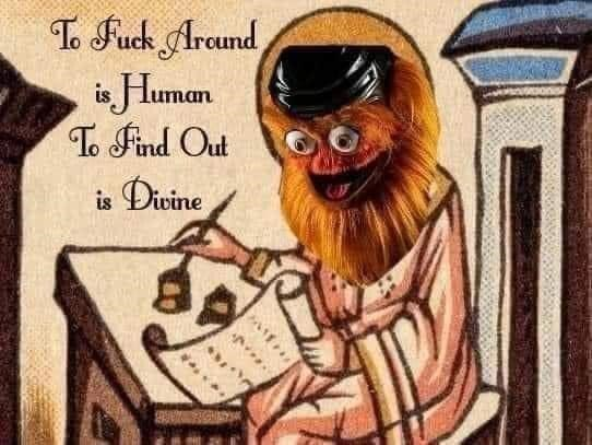 Art - To Fuck Arcund is Human T Find Out Divine is