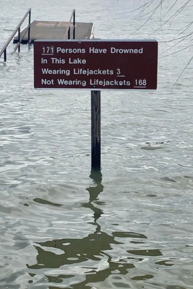 Fluid - 171 Persons Have Drowned In This Lake Wearing Lifejackets 3 Not Wearing Lifejackets 168