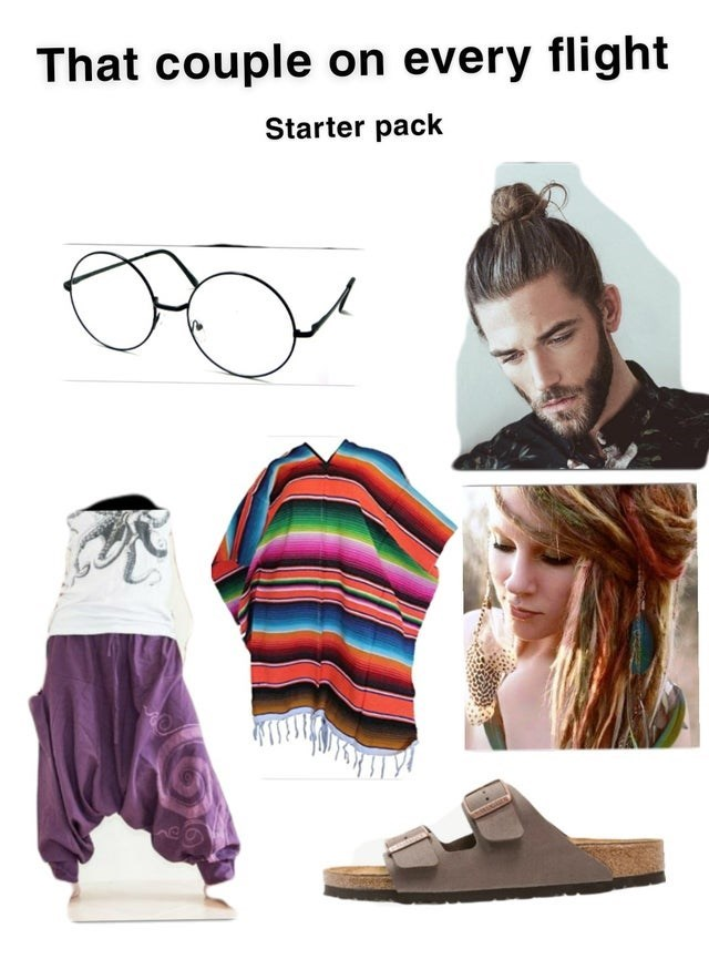 Hairstyle - That couple on every flight Starter pack