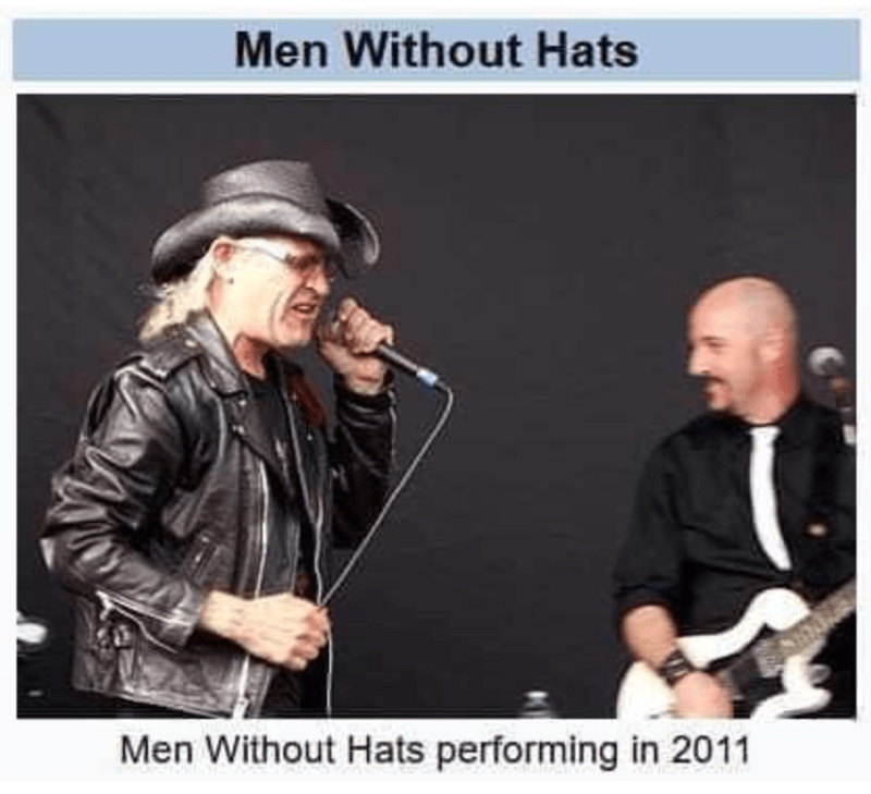 Audio equipment - Men Without Hats Men Without Hats performing in 2011