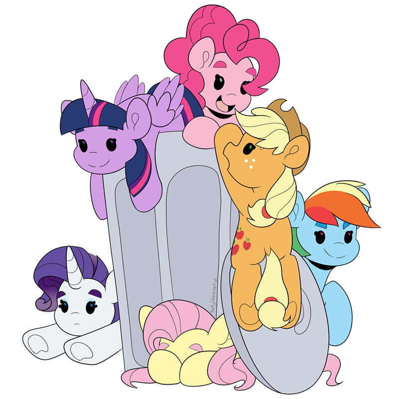 applejack twilight sparkle pinkie pie rarity party like an artist fluttershy rainbow dash - 9585711104