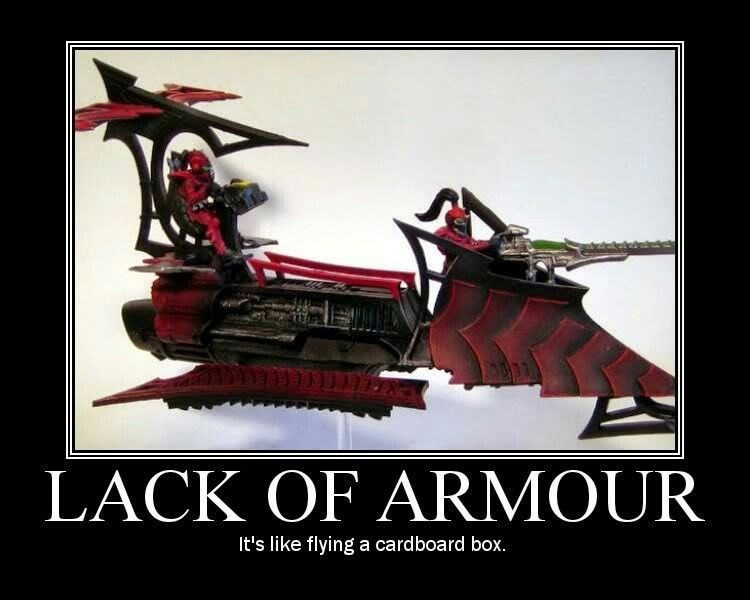 Toy - LACK OF ARMOUR It's like flying a cardboard box.
