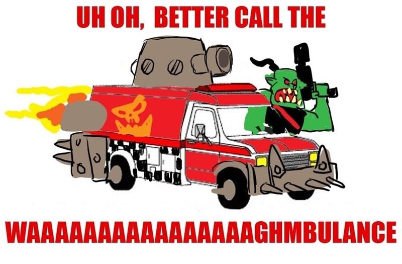 Motor vehicle - UH OH, BETTER CALL THE WAAAAAAAAAAAAAAAAGHMBULANCE