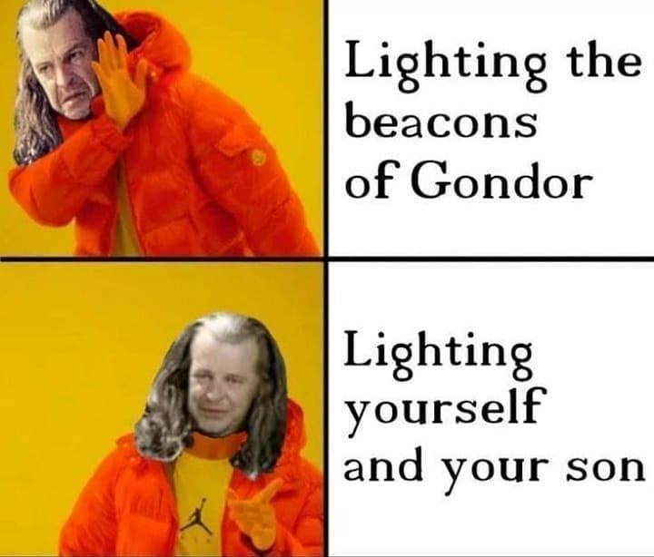 Nose - Lighting the beacons of Gondor Lighting yourself and your soh