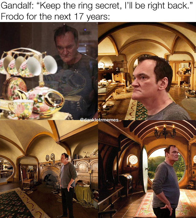 """Human - Gandalf: """"Keep the ring secret, l'll be right back."""" Frodo for the next 17 years: @danklotrmemes"""