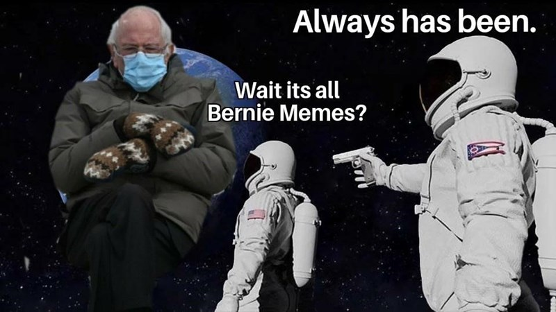 Outerwear - Always has been. Wait its all Bernie Memes?
