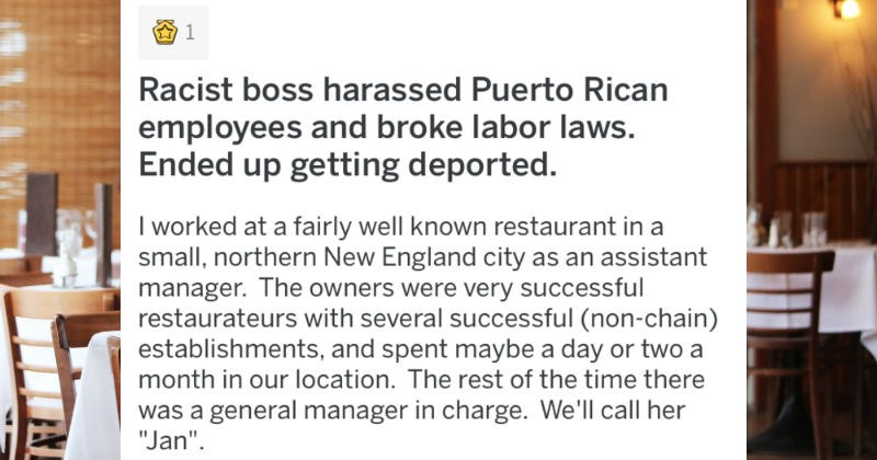 Racist boss from Canada harasses employees, and ends up getting deported.
