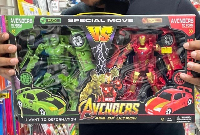 Toy - DLICE AVENGCRS TO FORM SPECIAL MOVE AVENGERS TO FORM HUCK RON M >> HERO AVENGERS I WANT TO DEFORMATION AGE OF ULTRON A WARNING ON MAN