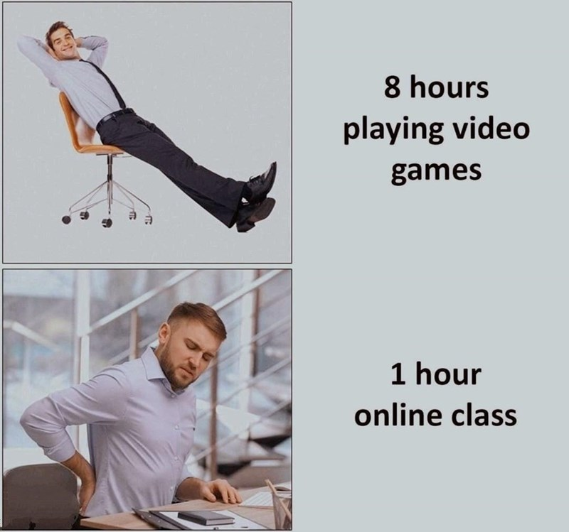 Sleeve - 8 hours playing video games 1 hour online class