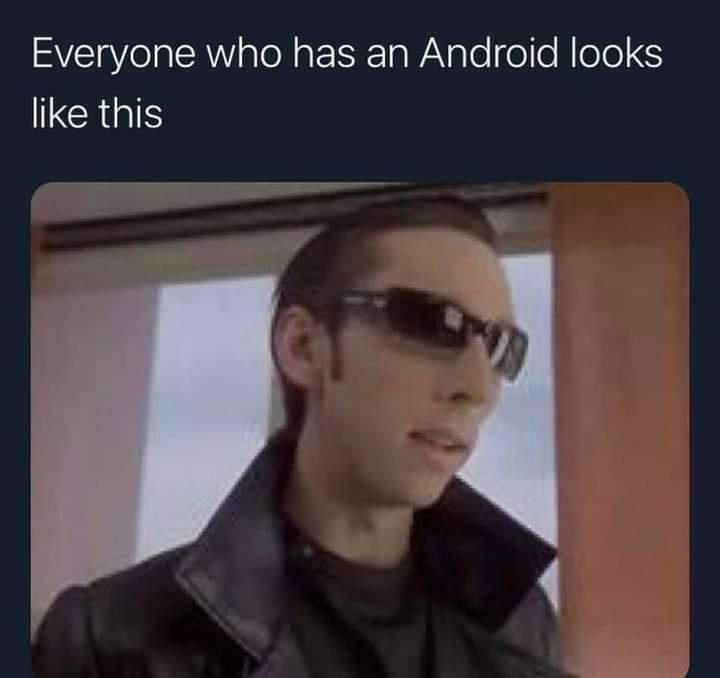 Forehead - Everyone who has an Android looks like this