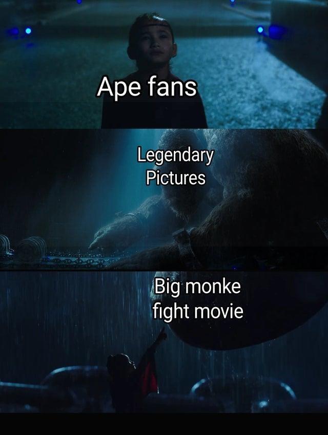 Light - Ape fans Legendary Pictures Big monke fight movie