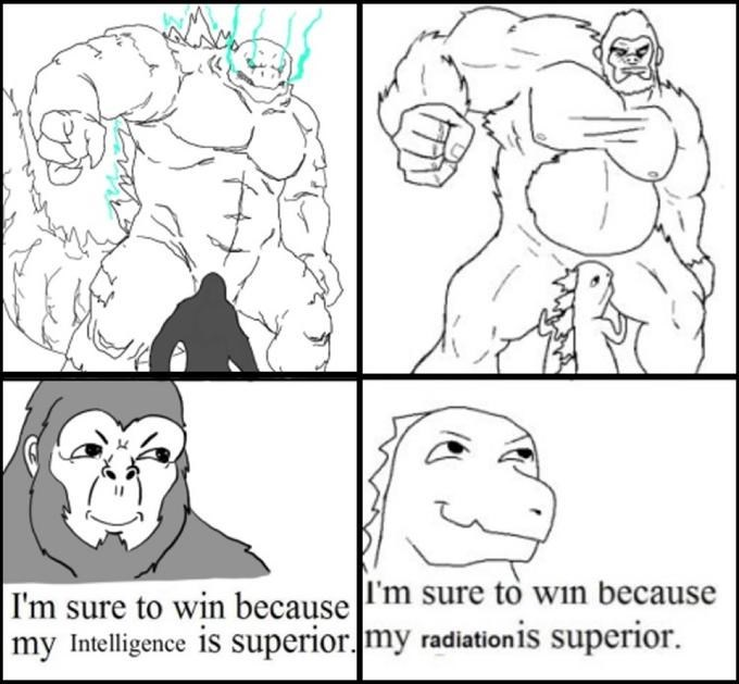Nose - I'm sure to win because l'm sure to win because my Intelligence is superior.my radiationis superior.