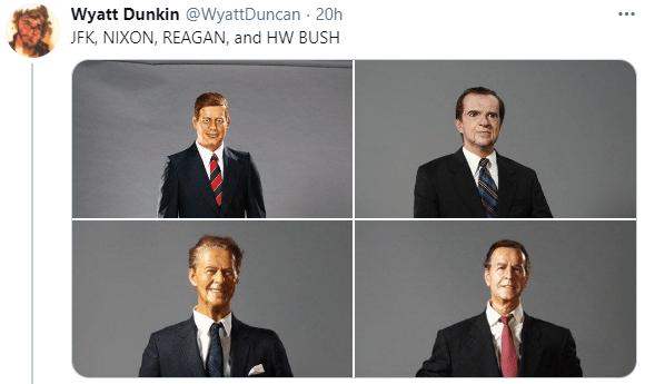 Clothing - Wyatt Dunkin @WyattDuncan 20h ... JFK, NIXON, REAGAN, and HW BUSH