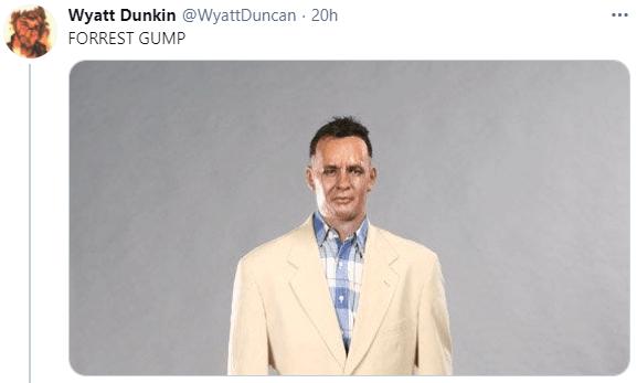 Dress shirt - Wyatt Dunkin @WyattDuncan - 20h FORREST GUMP