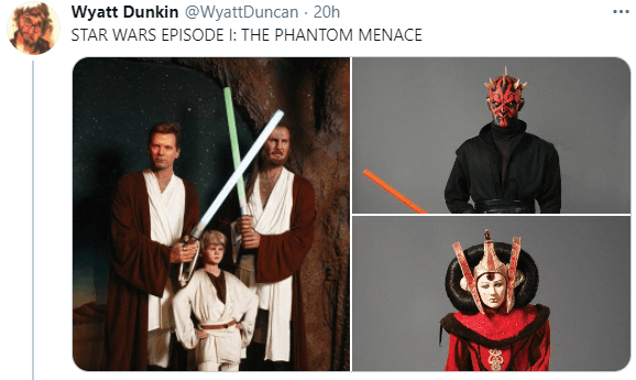 Outerwear - Wyatt Dunkin @WyattDuncan 20h STAR WARS EPISODE I: THE PHANTOM MENACE