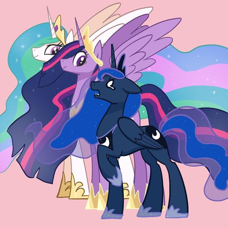 pfeffaroo twilight sparkle princess luna princess celestia - 9588837120