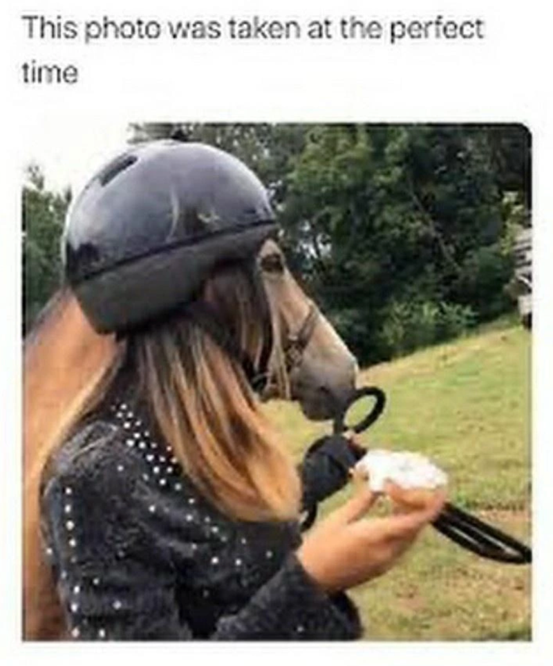 Helmet - This photo was taken at the perfect time