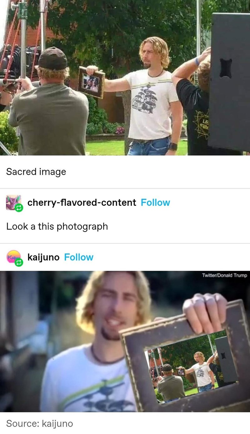 Clothing - LE Cilte Sacred image cherry-flavored-content Follow Look a this photograph kaijuno Follow Twitter/Donald Trump Source: kaijuno