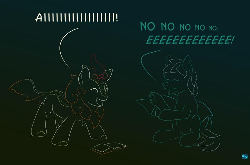 bat pony OC turbulence autumn blaze kirin quint-t-w - 9589436160