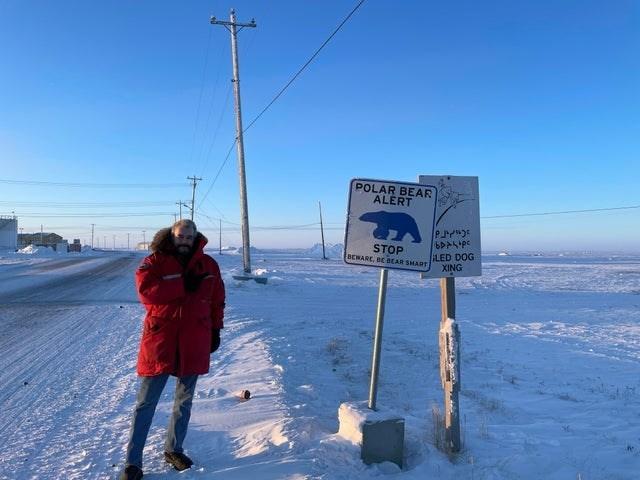 Sky - POLAR BEAR ALERT STOP (BCWARE, BE BEAR SHART LED DOG XING