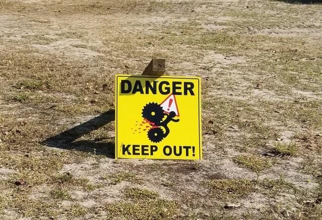 Hazard - DANGER KEEP OUT!