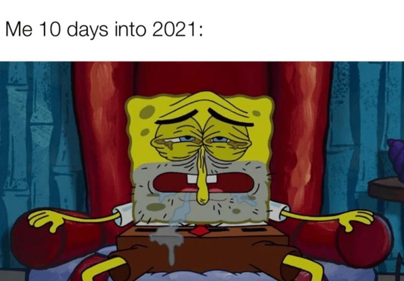 Textile - Me 10 days into 2021: