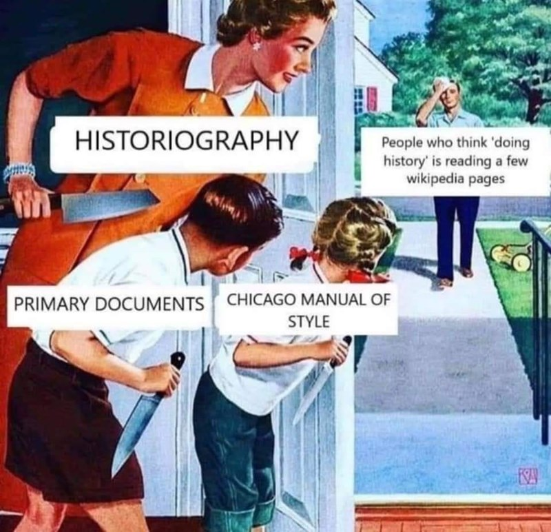 Hairstyle - HISTORIOGRAPHY People who think 'doing history' is reading a few wikipedia pages PRIMARY DOCUMENTS CHICAGO MANUAL OF STYLE