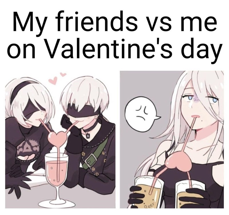 Hairstyle - My friends vs me on Valentine's day Reer