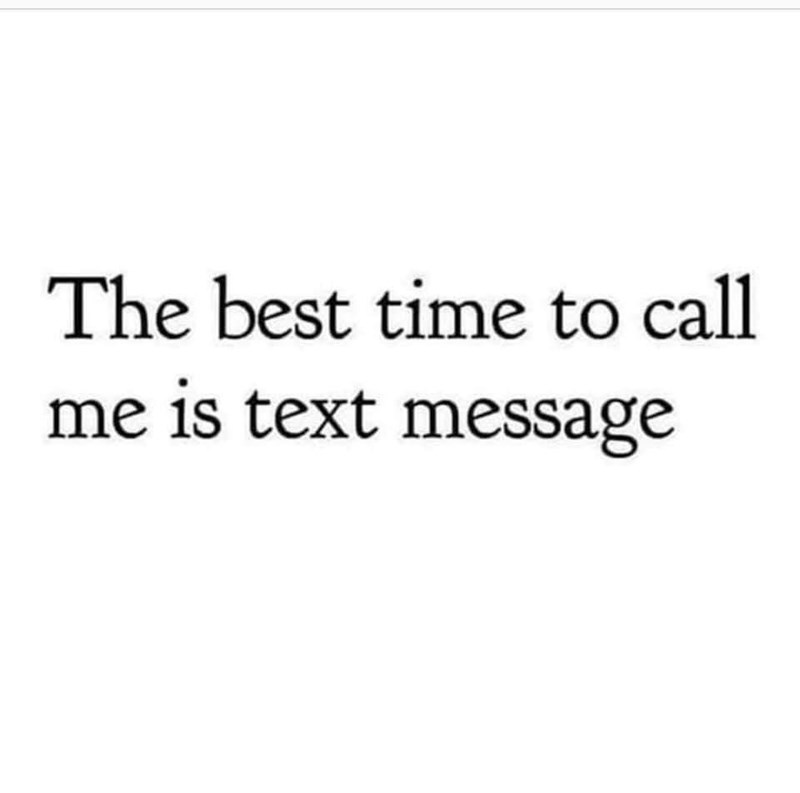 Font - The best time to call me is text message