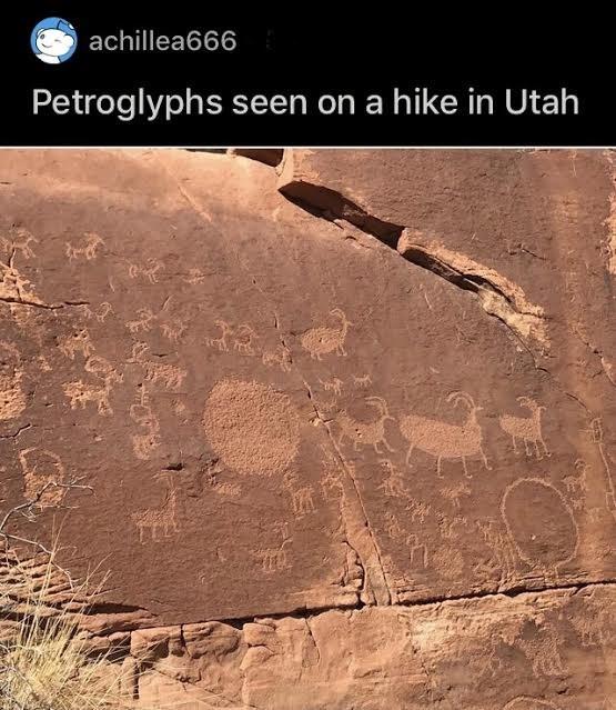 Ecoregion - achillea666 Petroglyphs seen on a hike in Utah