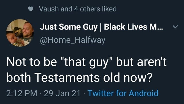 """Organism - Vaush and 4 others liked Just Some Guy 