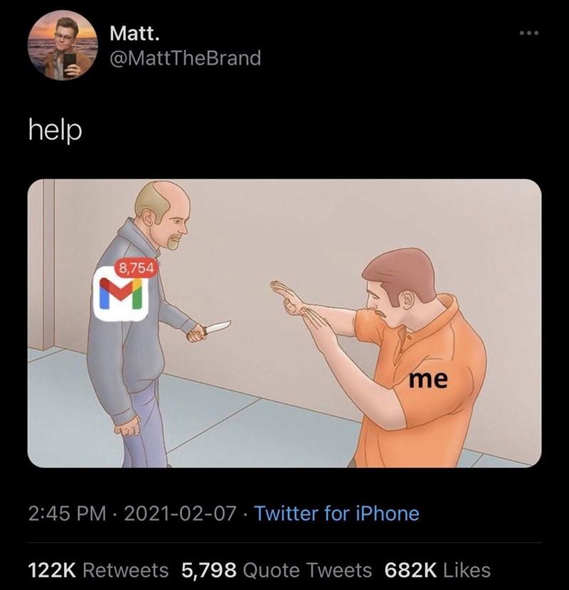 Joint - Matt. @MattTheBrand help 8,754 me 2:45 PM · 2021-02-07 · Twitter for iPhone 122K Retweets 5,798 Quote Tweets 682K Likes