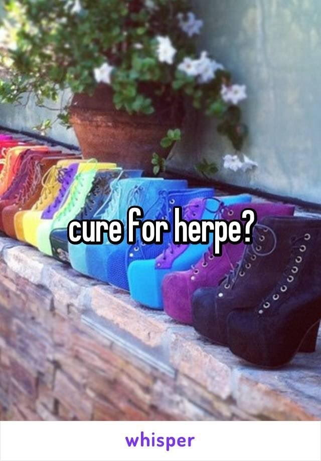 Plant - cure for herpe? whisper