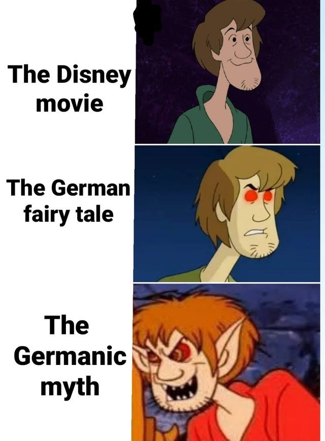 The Disney movie The German fairy tale The Germanic myth | Shaggy from Scooby Doo