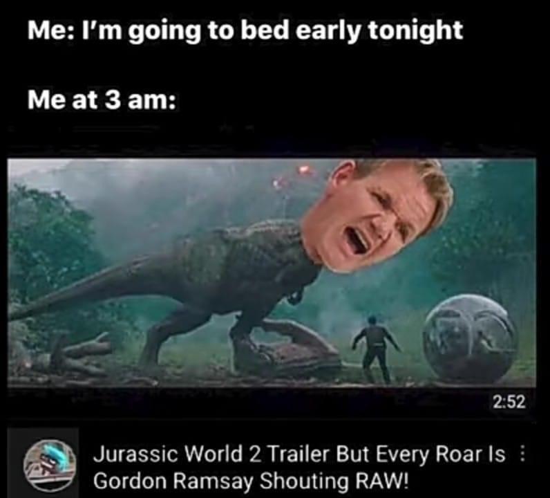 Funny memes, dank memes, lol, Gordon Ramsay, Jurassic World, It's Raw, youtube