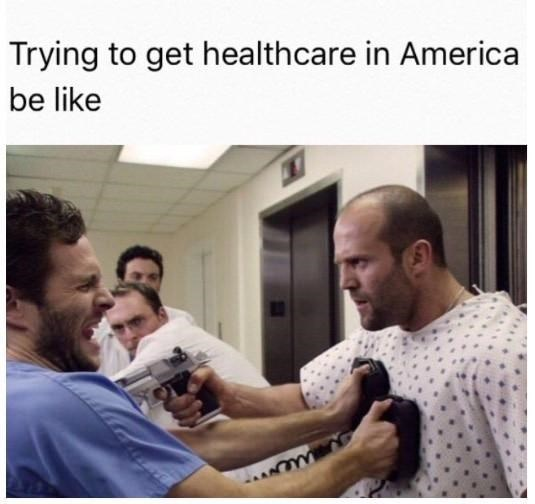 Muscle - Trying to get healthcare in America be like
