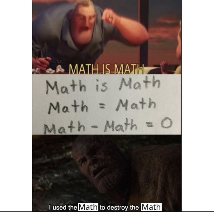 Forehead - A MATH IS MATH Math is Math Math = Math Math- Math =D 0 %3D I used the Math to destroy the Math