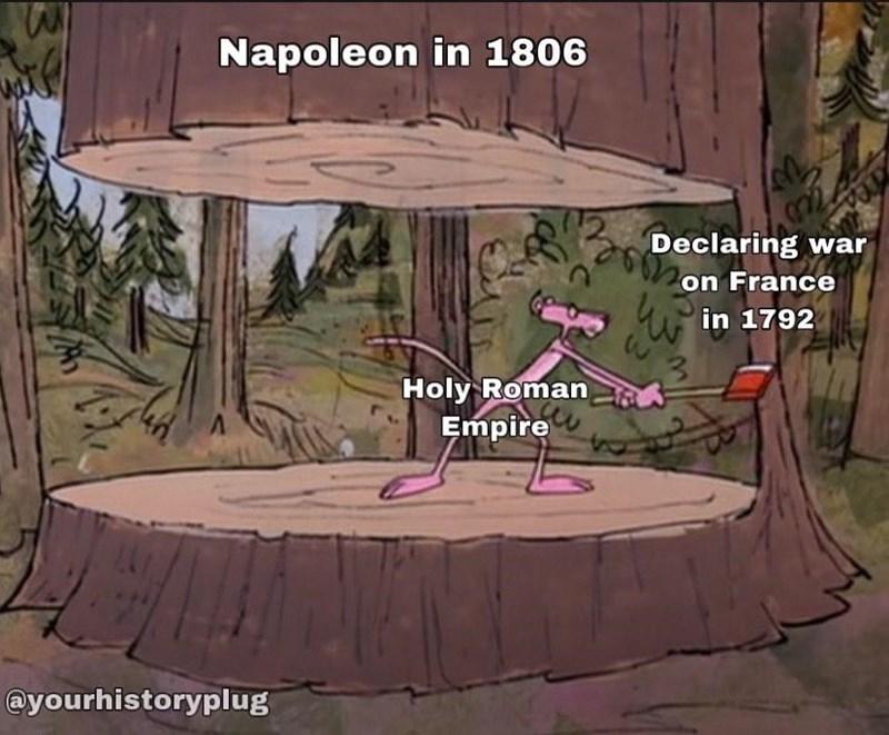 Ecoregion - Napoleon in 1806 Declaring war on France w in 1792 Holy Roman Empire @yourhistoryplug