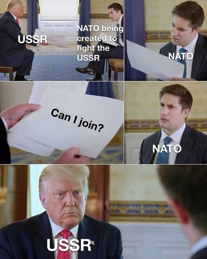 Clothing - NATO being created to fight the USSR USSR NATO Can I join? NATO USSR