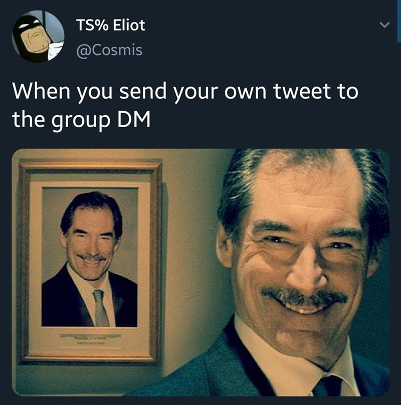 Forehead - TS% Eliot @Cosmis When you send your own tweet to the group DM