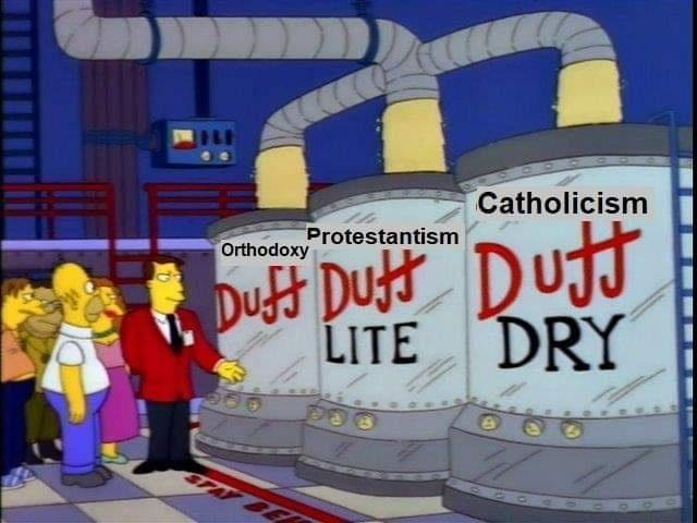 Water - Catholicism Dutt Duft Dut LITE DRY Protestantism Orthodoxy STAY BER
