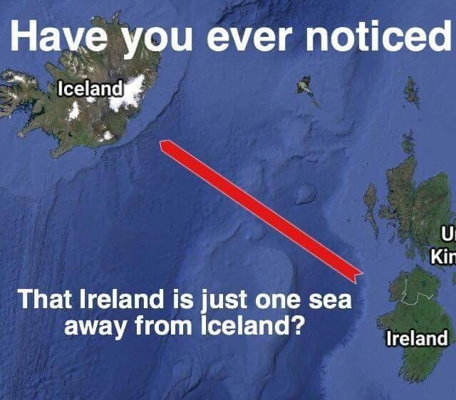 Water resources - Have you ever noticed Iceland Kin That Ireland is just one sea away from lceland? Ireland